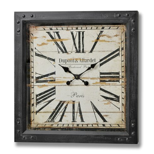 Oversized Dupont and Allardet Paris Iron Wall Clock