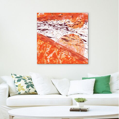 Abstract 653 Enigma Framed Graphic Print on Canvas