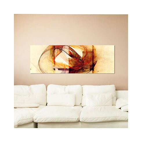 Enigma Panorama Abstrakt 237 Framed Graphic Print on Canvas