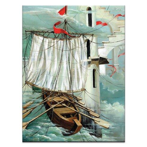 'Una Parade En El Tiempo' by Olena Kosenko Graphic Art Wrapped on Canvas