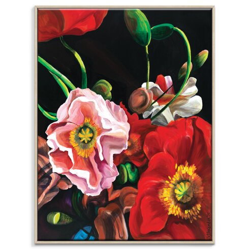 'Poppies' by Shani Alexander Framed Art Print on Wrapped Canvas