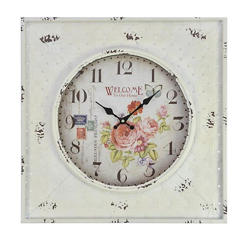 'Roses' MDF Wall Clock
