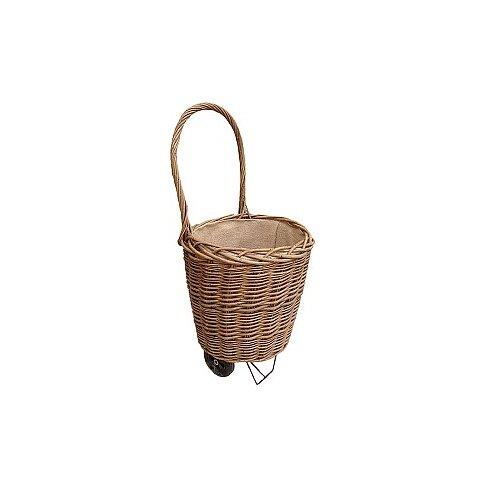 Log Shopping Green Ash Basket with Wheel