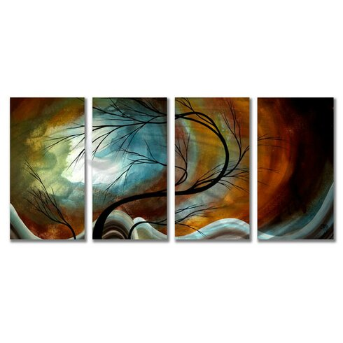 'Midnight Wind' by Megan Duncanson 4 Piece Painting Print Plaque Set