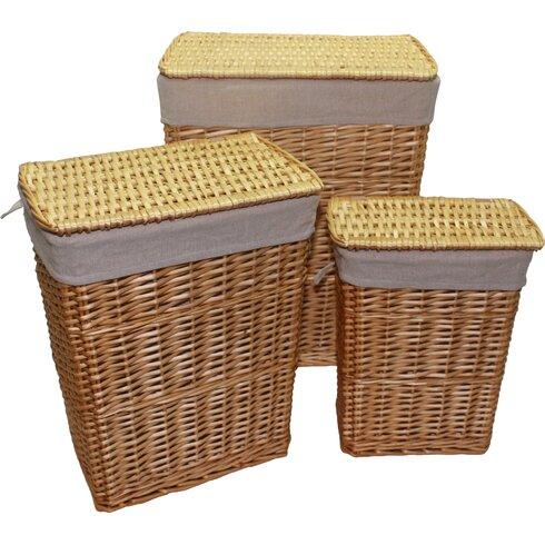3 Piece Wicker Laundry Set