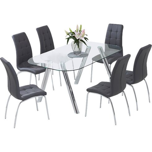 Panther Dining Set with 6 Chairs