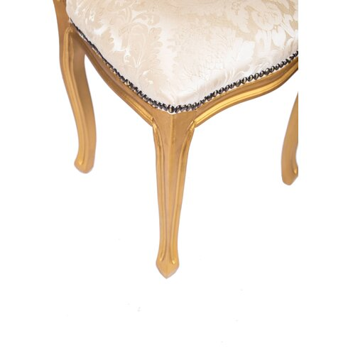 Gilt Upholstered Dining Chair