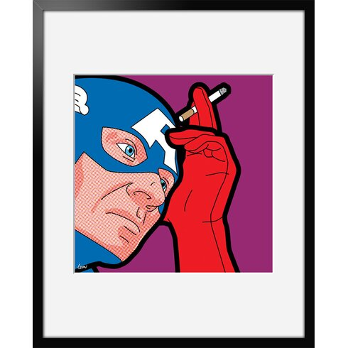 "'Captain Blues' by Greg ""Léon"" Guillemin Framed Graphic Art"
