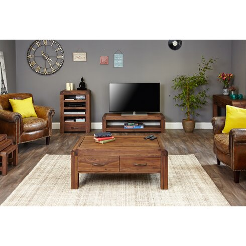 """Shiro Walnut Range TV Stand for TVs up to 72"""""""