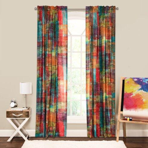 Crayola Crayola Etch Single Curtain Panel Amp Reviews Wayfair