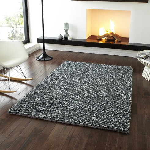 Pebbles Hand-Knotted Grey Area Rug
