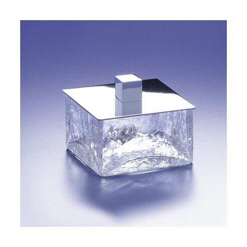 Crackled Square Crystal Jar