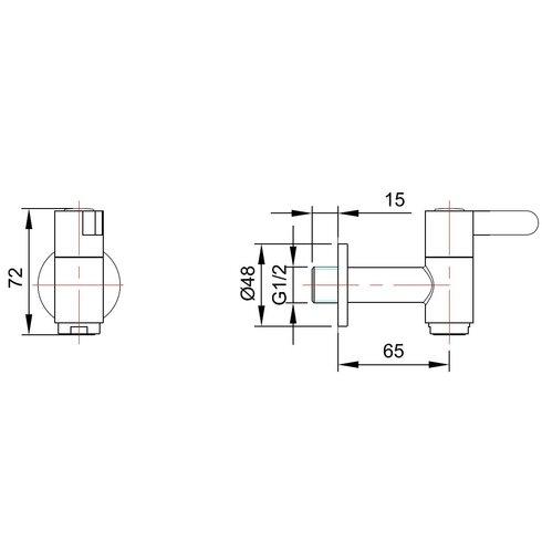 Single Handle Wall Mounted Monobloc Mixer Tap