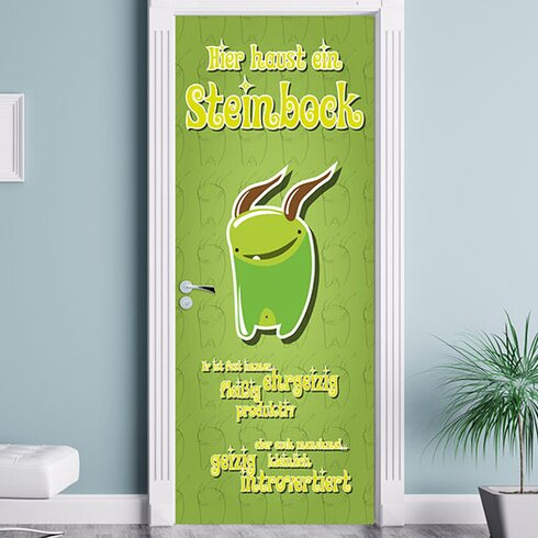 Kleine Monster Steinbock Door Sticker
