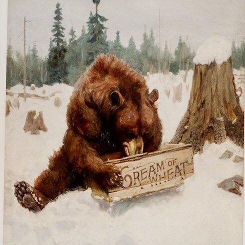 A 'Bear' Chance, 1907 by Philip Russell Goodwin Framed Art Print