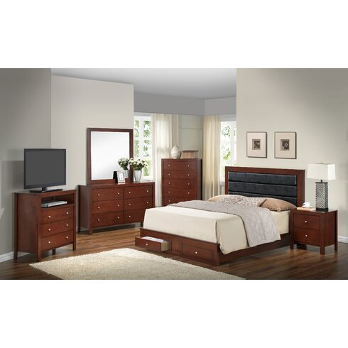 Latitude Run Brennen Storage Panel Customizable Bedroom Set ...