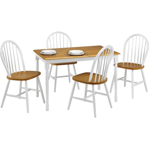 Nora Dining Set with 4 Chairs