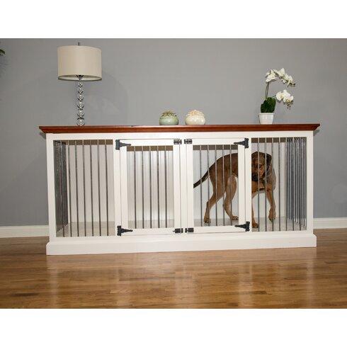 cozy k 9 double wide large credenza pet crate - Decorative Dog Crates