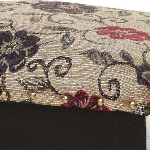 Minter Floral Storage Ottoman