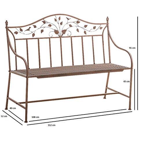 Shispare Iron Garden Bench