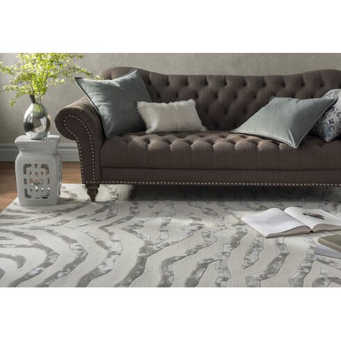 Mercer41 Dodgson Hand Tufted Gray Ivory Area Rug