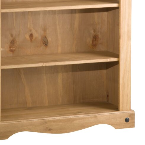 Traditional Corona Low Wide 100cm Standard Bookcase