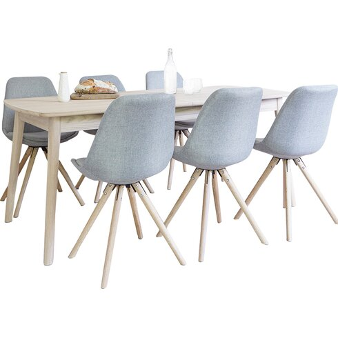 Frances Extendable Dining Set with 6 Chairs