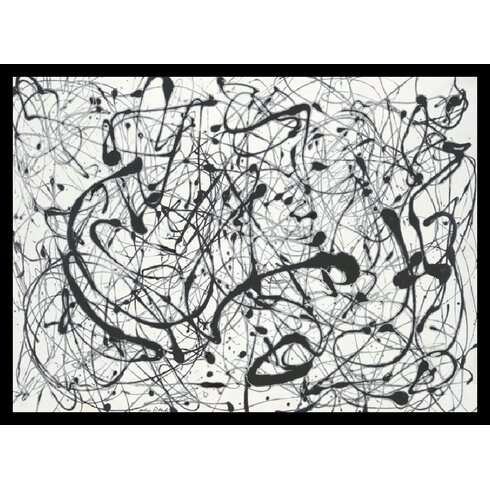 """No. 14: Gray"" by Jackson Pollock Framed Painting Print"