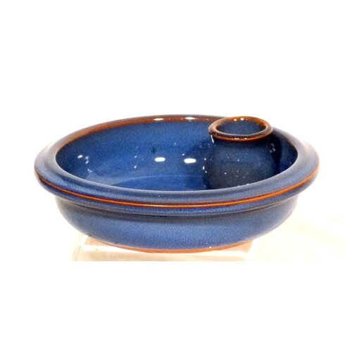 Terracotta Olive Dish in Blue