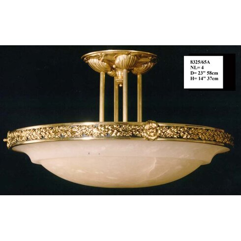 4 Light Semi-Flush Ceiling Light