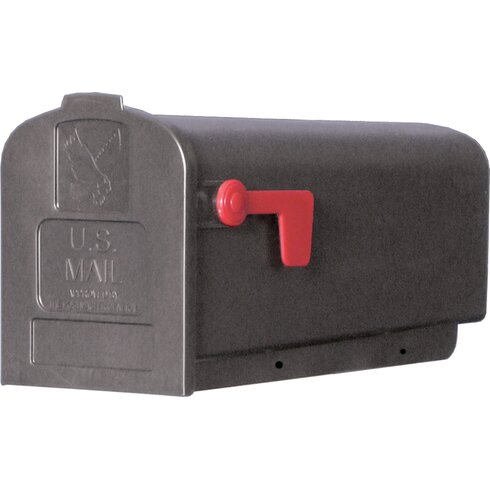 "8"" x 10"" Plastic Post Mounted Mailbox"