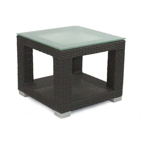 Signature End Table with Tempered Glass Top