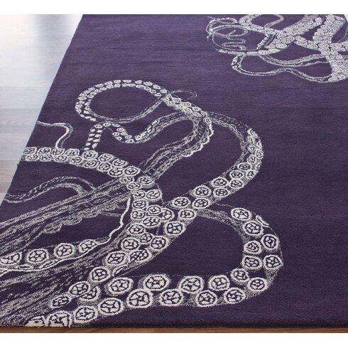 Elegance Purple Octo Area Rug