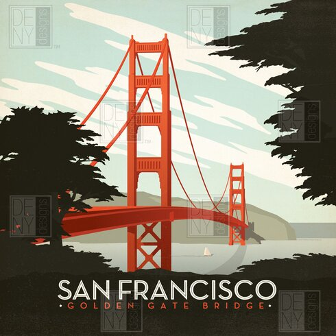 Anderson Design Group San Francisco Shower Curtain