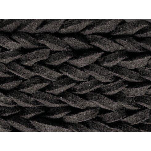 Highland Hand-Woven Black Area Rug
