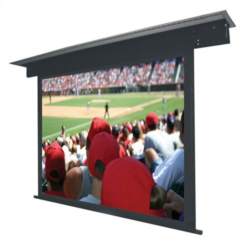 Lectric II Matte Black Electric Projection Screen Low Voltage Motor