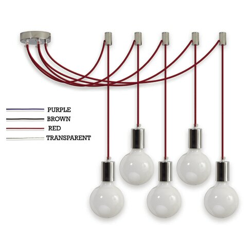 Pop V 5 Light Globe Pendant