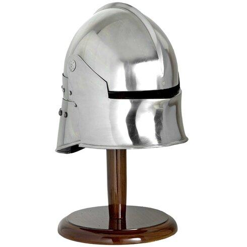 Decorative Sallet Helmet on Stand
