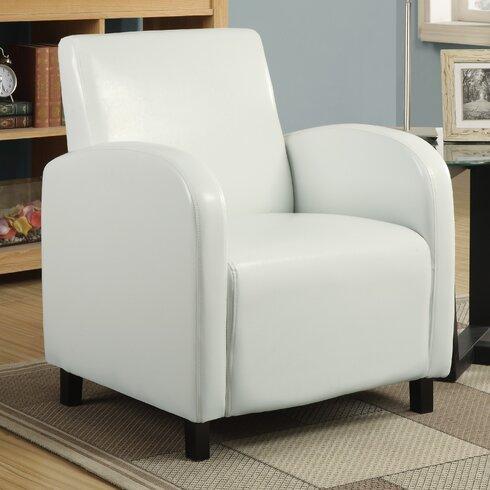 Leather Look Armchair