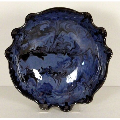 Fluted Splashy Bowl in Blue