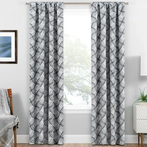 Exceptional Allen Ikat Blackout Rod Pocket Thermal Single Curtain Panels  Allen Roth Curtains