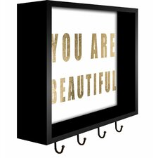 You are Beautiful Wall Mounted Coat Rack by PTM