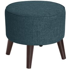 Hogan Round Ottoman with Splayed Legs by Corrigan Studio