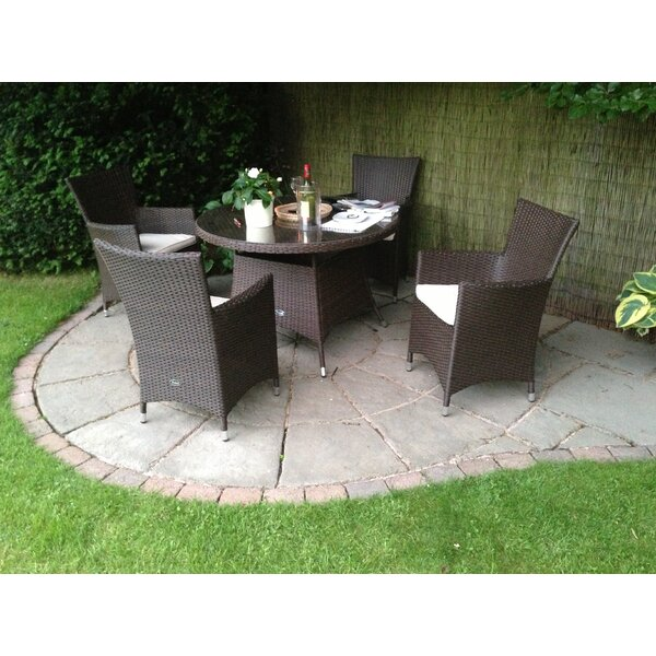 Royal Craft Cannes 4 Seater Dining Set With Cushions Reviews Wayfair Co Uk