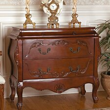 Jean Henri Bombe Commode 2 Drawer Chest by Design Toscano