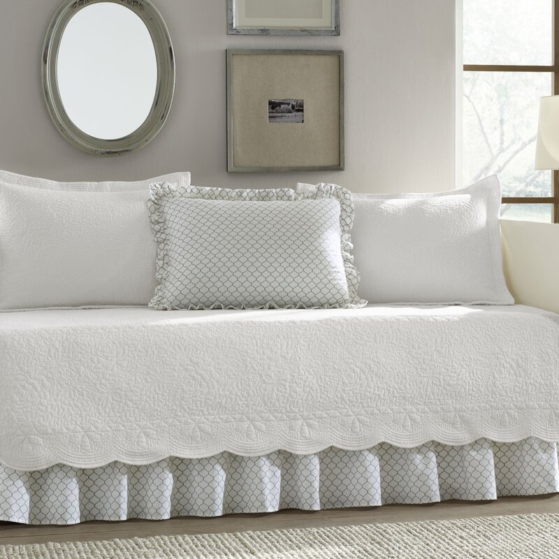 august grove lorimier 5 piece daybed cover set & reviews | wayfair