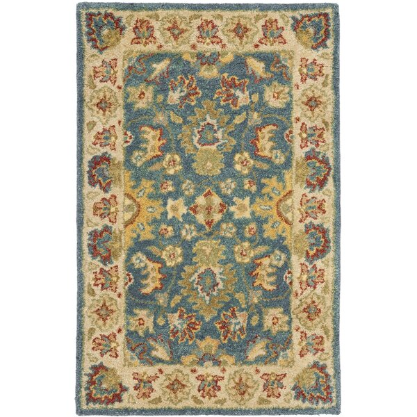 Safavieh Antiquities Blue/Beige Area Rug U0026 Reviews | Wayfair