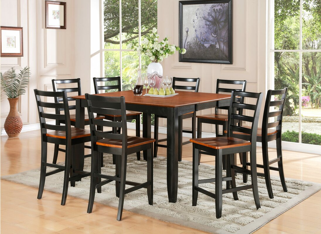 wooden importers parfait  piece counter height dining set  -   piece kitchen  dining room sets sku woim defaultname
