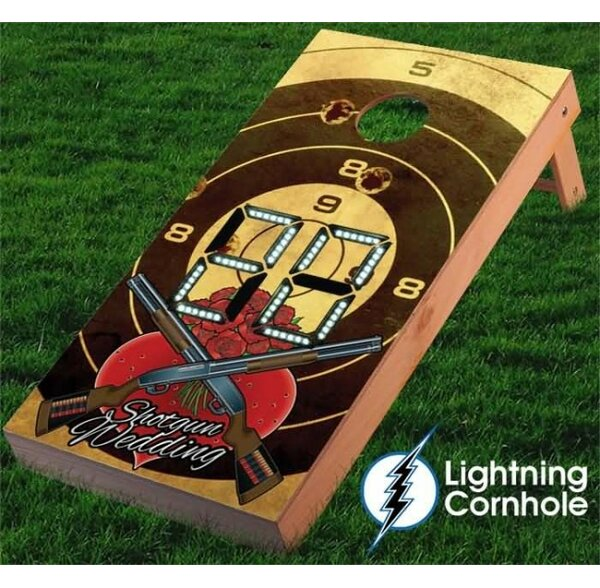 Electronic Scoring Shotgun Wedding Cornhole Board by Lightning Cornhole