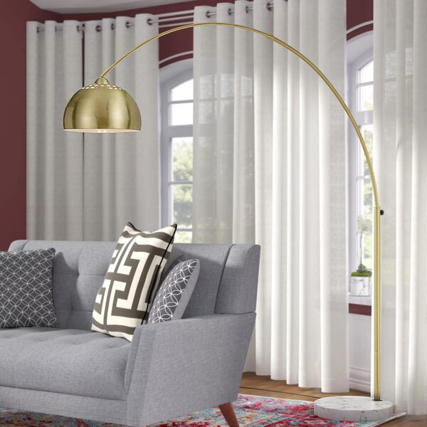 Valeria 73 Arched/Arc Floor Lamp by Langley Street